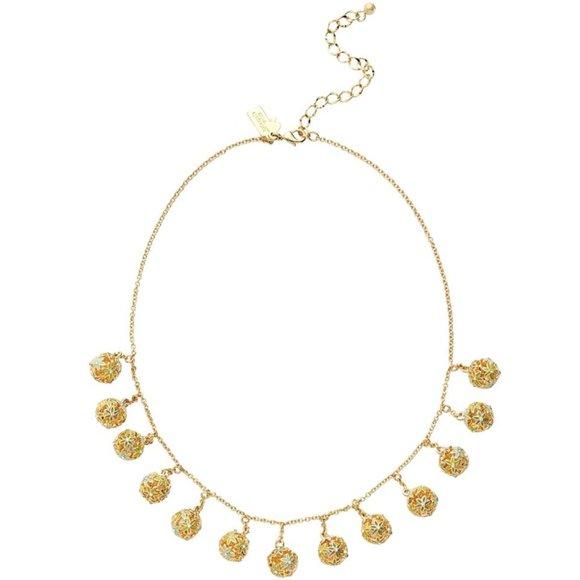 NEW Kate Spade Wallflower Ball Fringe Necklace